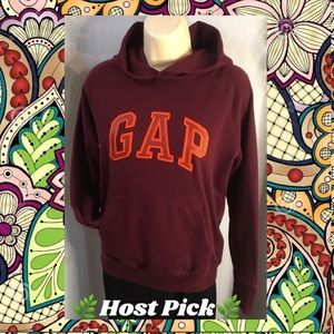 *GAP* Burgundy 100% cotton hoodie